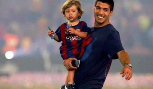 Viral: Luis Suarez y su hijo en ronda de penales ¿Quien habrá ganado?